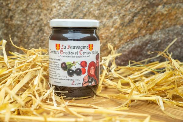 Confiture Griottes - cerises noires - La Sauvagine