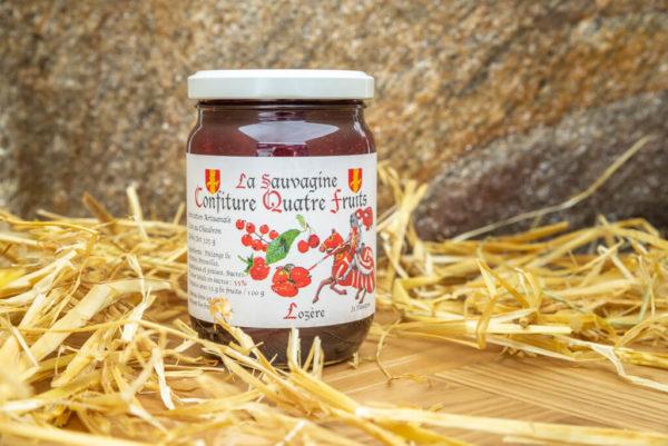 Confiture Quatre fruits - La Sauvagine