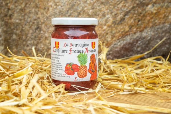 Confiture Fraises - ananas - La Sauvagine