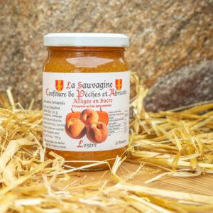 Confiture Pèches - abricots - La Sauvagine
